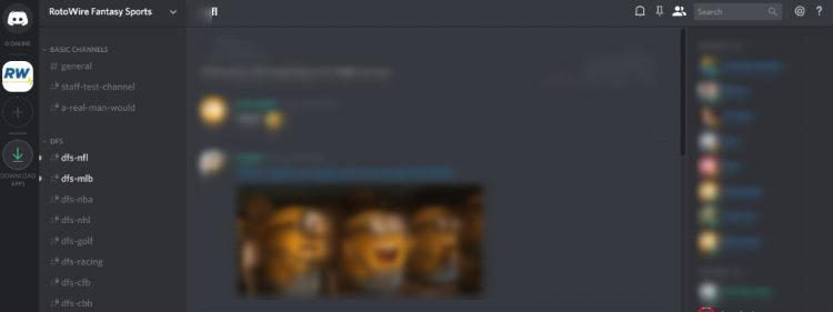 RotoWire Discord Community Screen Shot